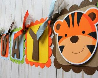 Safari Birthday Banner, Safari Party Decorations, Jungle Party Banner, Safari Banner, Zoo Banner, Zoo First Birthday, Safari First Birthday