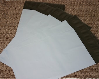 100 White 7.5x10.5 Poly Mailers Self Sealing Envelopes Shipping Bags Tear Proof Water Resistant