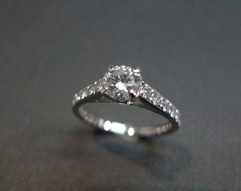 Diamond Engagement Ring / Engagement Ring / Wedding Ring / 0.40ct Diamond Ring / Diamond wedding ring /  Promise Ring in 18K White Gold