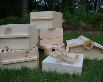 Warre Bee hive ( Newly constructed warre bee hive, Great organic way to raise bees.)