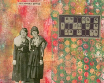 Broken Tower | Original Mixed Media Collage