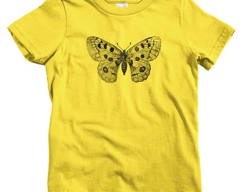 Kids Apollo Mountain Butterfly T-shirt - Baby, Toddler, and Youth Sizes - Parnassius Kids, Nature Kids, Butterfly Gift