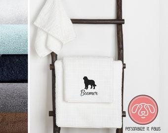 Saint Bernard Embroidered Towel