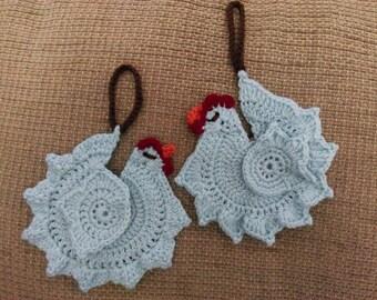Crochet Chicken  Ornament Pattern