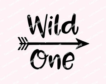 Wild One Iron On, Matte, Arrow, Gold, White, Blue, Shirt Iron On, DIY, Iron-On Heat Transfer, First Birthday, NOT DIGITAL, Iron-On Decal