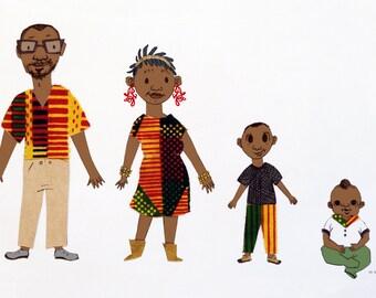 Custom Family Portraits: Print-Ready Digital File