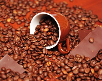 Coffee Chocolate Orange Flavored Coffee 4 ounces Whole Bean or Ground free