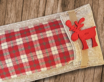 Moose Flannel & Satin Flax seed Eye Pillow