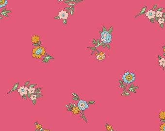 Liberty of London Cottage Garden Little Vine in Pink 04775614X cotton quilting fabric material small floral yardage