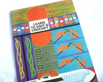 Vintage knitting and crochet book - vintage needlecraft book - 1970s knitting pattern book - 1970s crochet book
