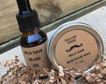Mustache - Beard - Grooming - Men's Gift Set -Wild Hair Groomers