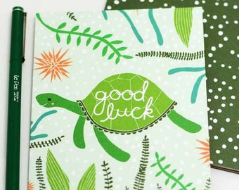 Good Luck Turtle Card, Turtle Card For Mom, Good Luck Card, Blank Turtle Card, Good Luck Card, Best Wishes Card
