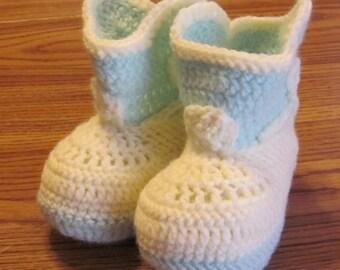 Handmade Crochet Cowboy Baby Booties