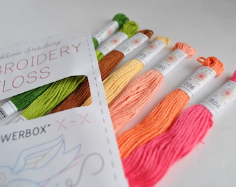 Embroidery Thread by Sublime Stitching - 7 skeins - 'Flowerbox' colours - Cotton Embroidery Floss