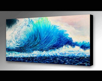 Ocean Wave Painting | Sea Art | Ocean Decor | Wave Canvas Print | Hawaiian Decor | Wave Art | Surf Decor | Beach Decor | Beach Art | Waves