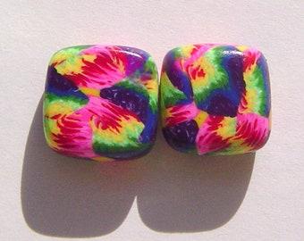 Replenish Your Soul  Handmade Artisan Polymer Clay Bead Pair