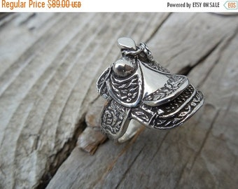 ON SALE Saddle ring in sterling silver