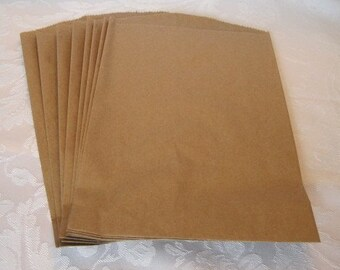 100 Paper Bags, Gift Bags, Brown Paper Bags, Candy Bags, Kraft Paper Bags, Party Favor Bags, Paper Gift Bags 8.5x11