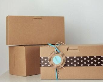 8 x 4 x 4  Kraft Cupcake or Gift Boxes set of 30