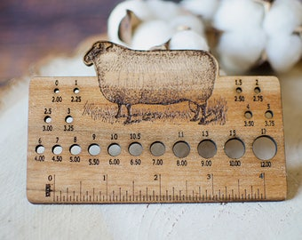 Knitting Needle Size Gauge : Needle gauge etsy