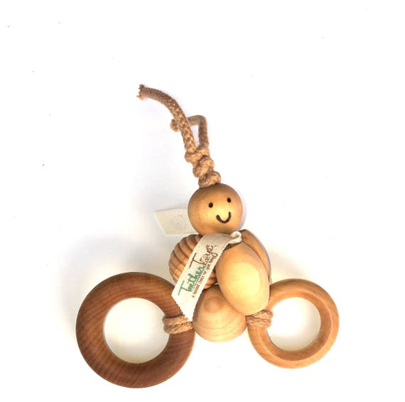 CRUISING CLAIRE™ - TeetherToys - Layette - Baby Shower - Wooden Toys - Organic Toys- Organic Teether - Organic Cotton - Pretend Play Toy