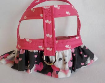 Custom Dog Dress - Dog Outfit - Dog Apparel - Maltese - Custom Dog Harness - Small Dog Harness - Dog Clothes