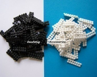 100 NON SLIP GRIP Liners In Black AND White for Single or Double Prong Alligator Clips Great For Fine Hair PLUS My Own DIY Instructions