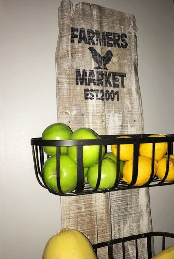 Kitchen Decor, Farmhouse Kitchen, Wood Sign, Rustic Wood Sign, Farmhouse produce baskets, Rustic Produce Baskets, Home Decor, Rustic Decor