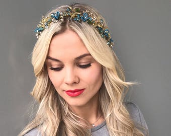 Bridal hair vine wedding hair vine Crystal vine wedding veil crystal crown Bridal Headband gold hair vine Crystal Headband bridal vine