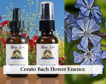Cerato Bach Flower Essence, 1 oz Dropper or Spray for Trusting Your Thinking or Intuition when Overly Dependent on the Opinions of Others