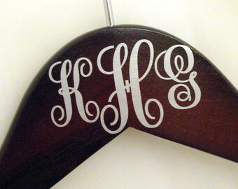 3 Letter Monogram Decal Addition, Interlocking - Custom Personalized Hanger Add-On - Suspended Moments