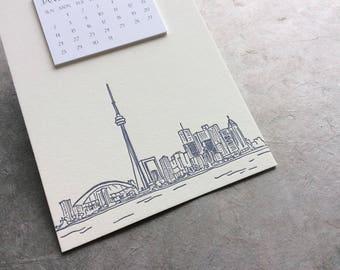 Toronto Cityscape Postcard Calendar