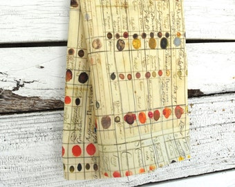 Linen Tea Towel - Antique Color Chart, Made to Order