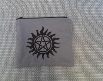 Supernatural Embroidered Zipper Pouch
