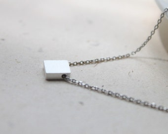 Simple square charm Necklace - S2164-1