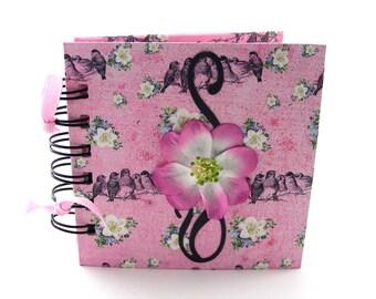 Song Birds Gratitude Book, gratitude journal, thank you book, thank you journal, gratitude diary, blessings book - rose pink