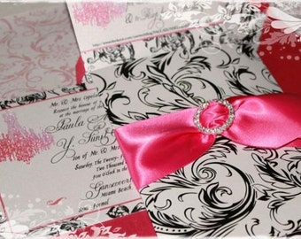 Wedding Marie Antoinette Versailles Chandelier Invitations in Custom Colors for Your Wedding, Shower , Save The Date, Event or Soiree