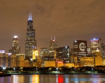 Chicago Cubs Skyline Canvas Wrap