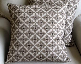 WALNUT designer fabric pillow cover 18x18 20x20 22x22 24x24 26x26