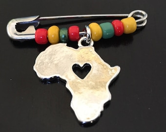 Pan-Africanism Safety Pin