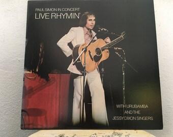 Paul Simon With Urubamba And The Jessy Dixon Singers - Paul Simon In Concert Live Rhymin', vinyl record