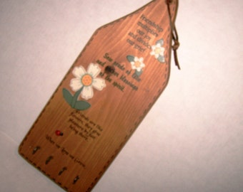 Wood Key Rack Handmade Friendship Gift Made In USA Special Friend Verse Wood Plaque Handpainted Daisy Flower Hanging Plaque Handcrafted Rack