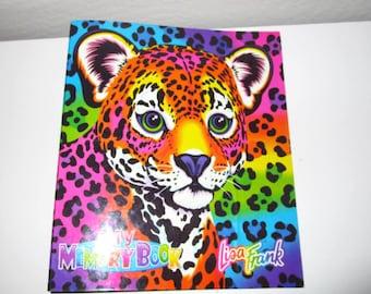 "Lisa Frank Binder - Leopard Cat ""My Memory Book"" 3 Ring Binder Notebook Vintage Lisa Frank"