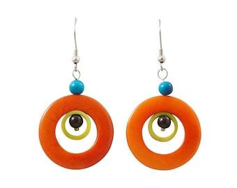 Galassia Tagua Dangle Earrings Eco Friendly Earrings