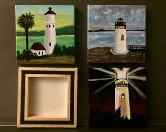 Lighthouse magnet paintings