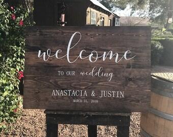 Rustic Wedding Welcome Handmade Wood Sign