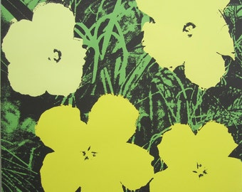 Andy Warhol Flowers signed limited edition lithograph 1113/2400 II.72