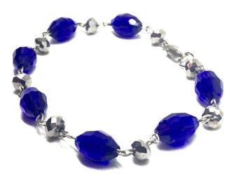 Cobalt Beaded Bracelet