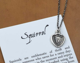 Squirrel Wax Seal Necklace - 259