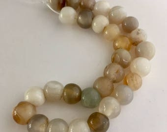 Agate Beads - 29 beads - approximately 8mm